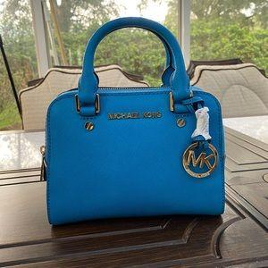 Blue Michael Kors Handbag